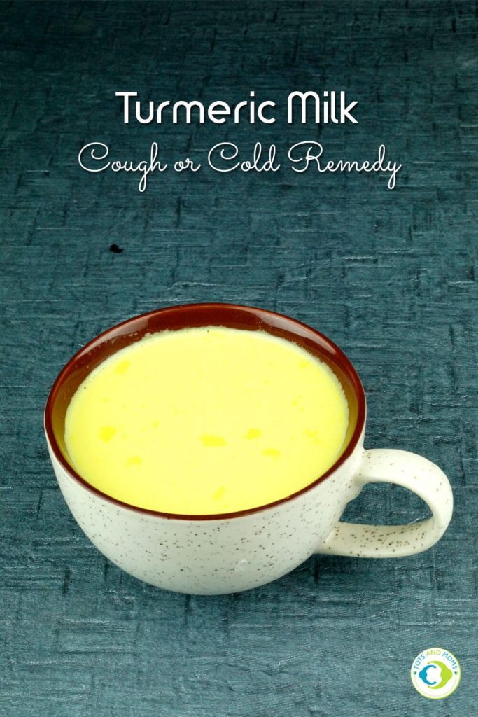 TURMERIC MILK - COUGH & COLD HOME REMEDY for Toddlers, Kids & Family