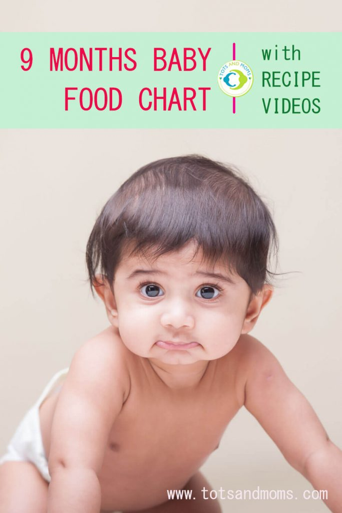 9 Months Baby Food Chart and Meal Plan