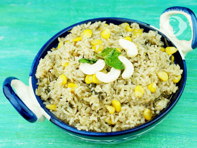 Sweet Corn Pepper Rice for Babies, Toddlers, Kids & Family