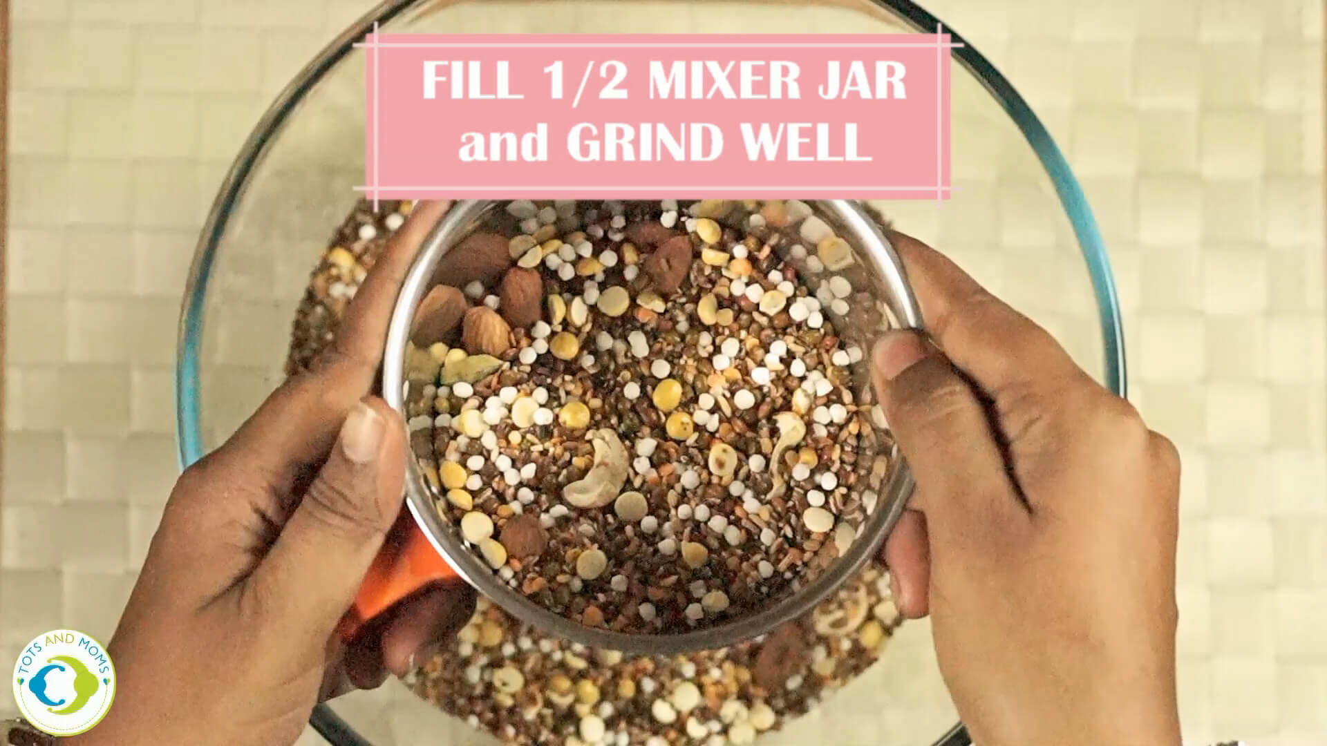 First food recipe with Finger millets and grains