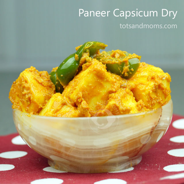 Paneer Capsicum Dry Recipe for kids hindi kannada