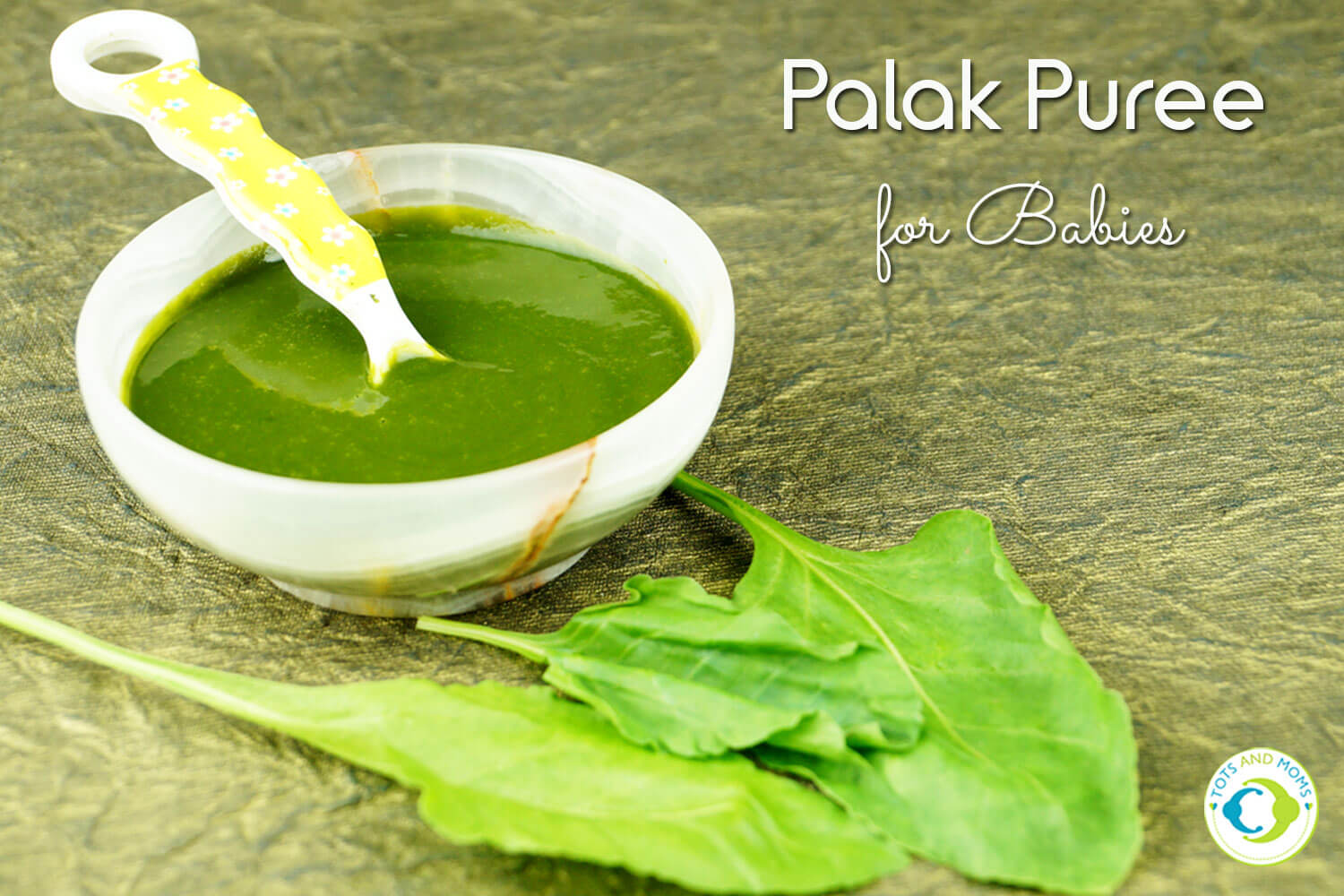 Spinach Puree for babies iron rich food