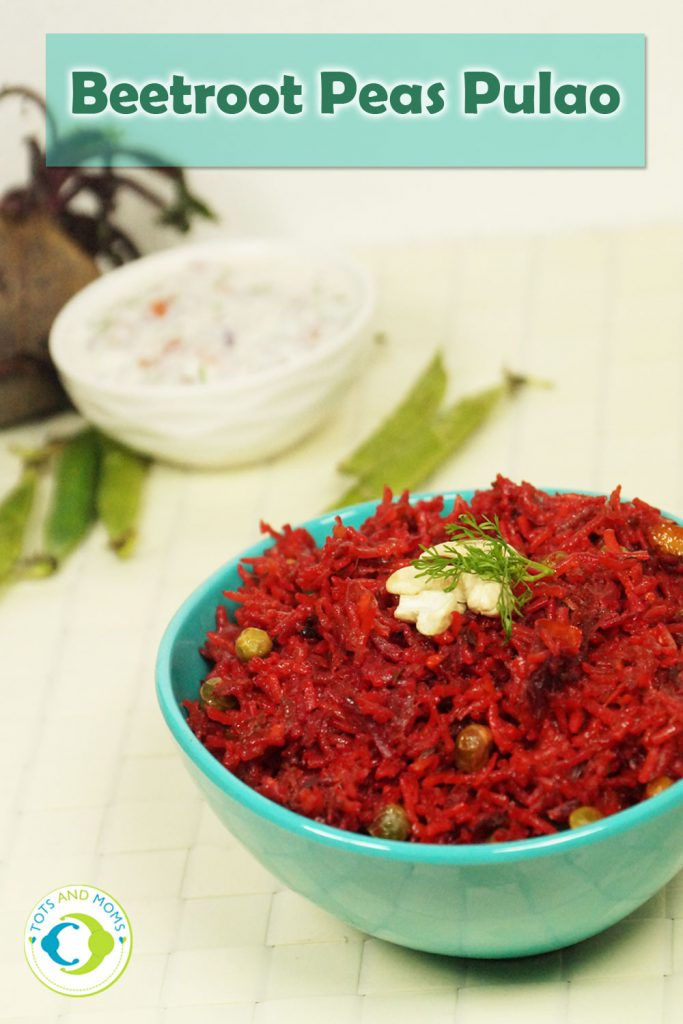 BEETROOT PEAS PULAO for Babies, Toddlers, Kids & Family
