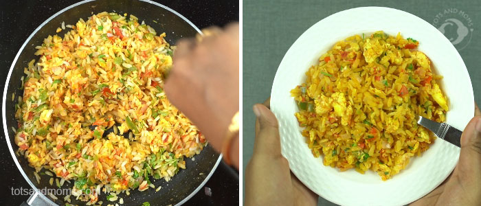 Scrambled Egg Poha for Babies, Toddlers & Kids anda motte recipe in hindi kannada shishu