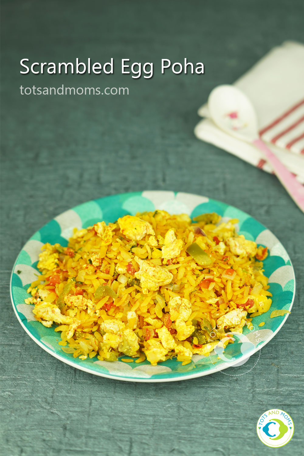Scrambled-Egg-Poha for babies kannada hindi recipe