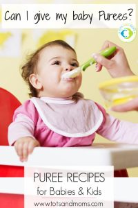 Best  fruit and vegetable puree recipes for babies 6-8 months stage 1