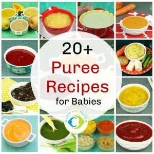 Best  fruit and vegetable puree recipes for babies 6-8 months - stage 1