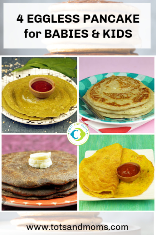 Eggless Pancake Recipes for Babies Toddlers and Kids Pancakes for Babies Pancakes for Toddlers Pancakes for Kids Easy Homemade Pancakes Ragi Pancakes Oats Pancakes Palak Pancakes Whole Wheat Pancakes